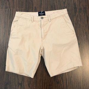 American Eagle Size 28 Shorts Prep Fit Khaki Tan